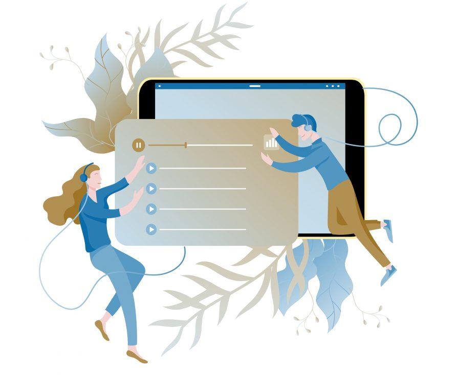 stock illustration music dance people