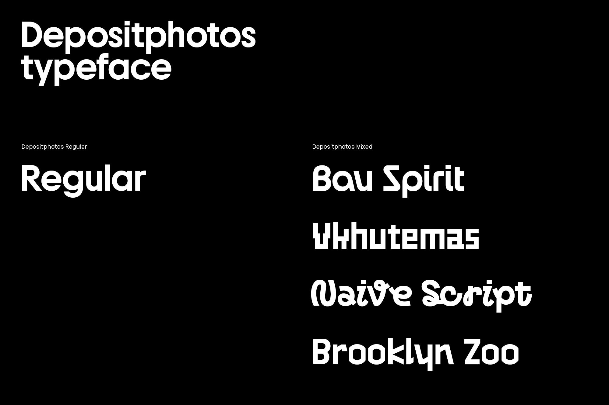 Depositphotos new fonts 2021 rebranding