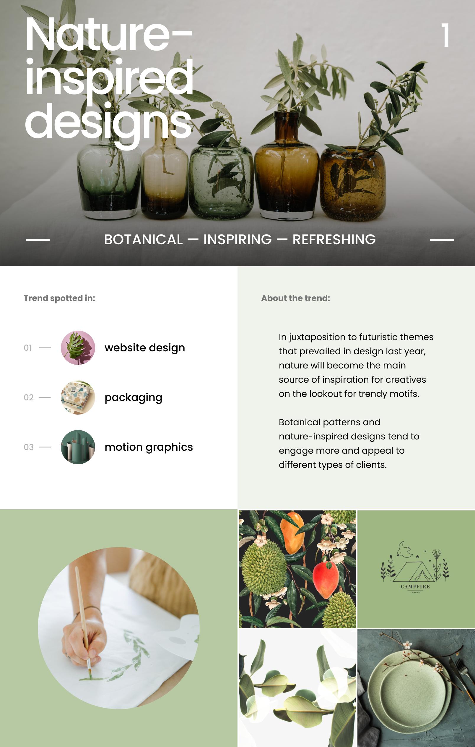 Graphic Design Trends 2021_Nature inspired designs
