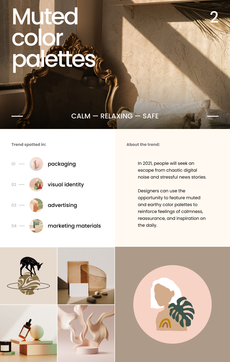 Graphic Design Trends 2021_muted color palettes
