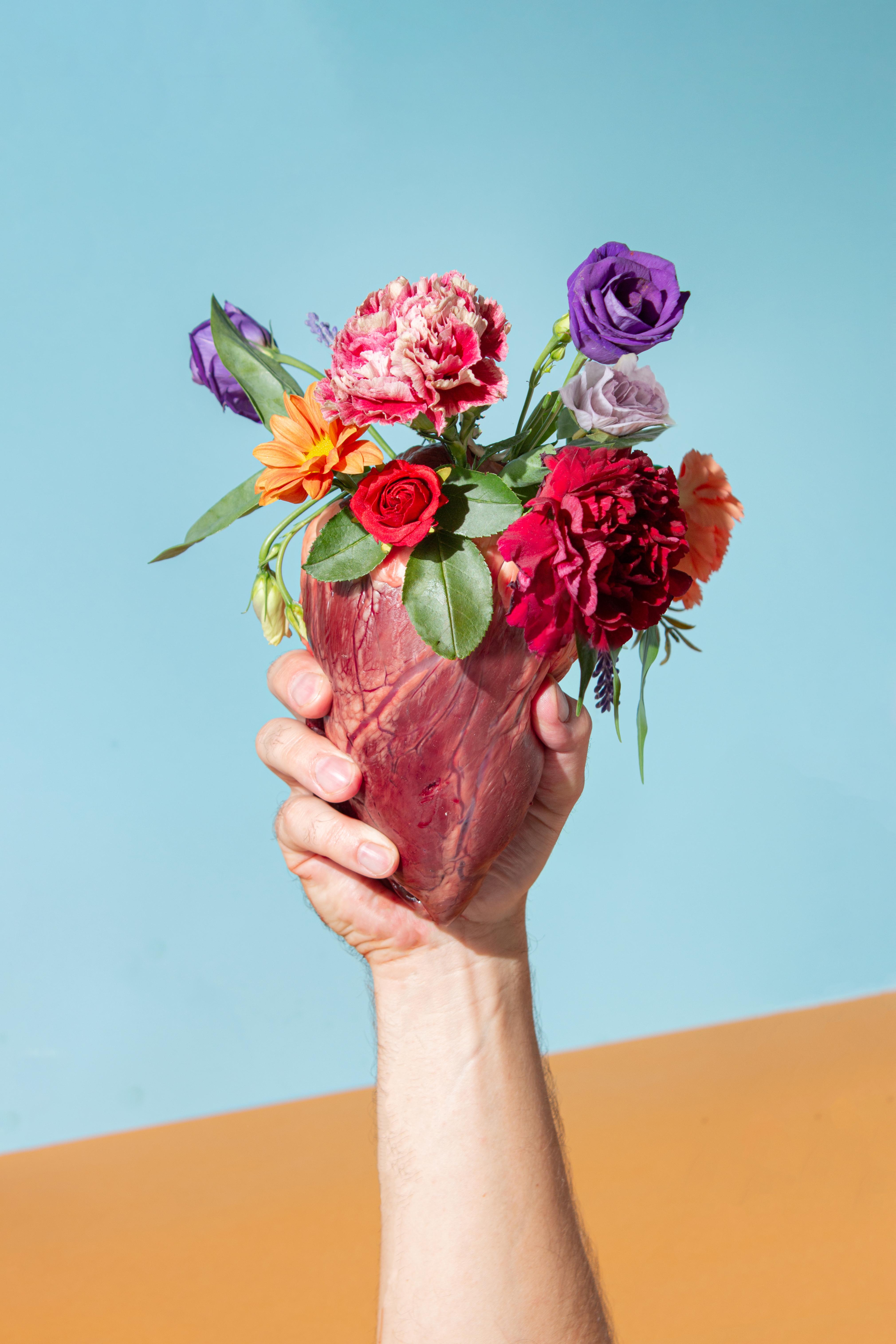 Minimal love concept stock photography