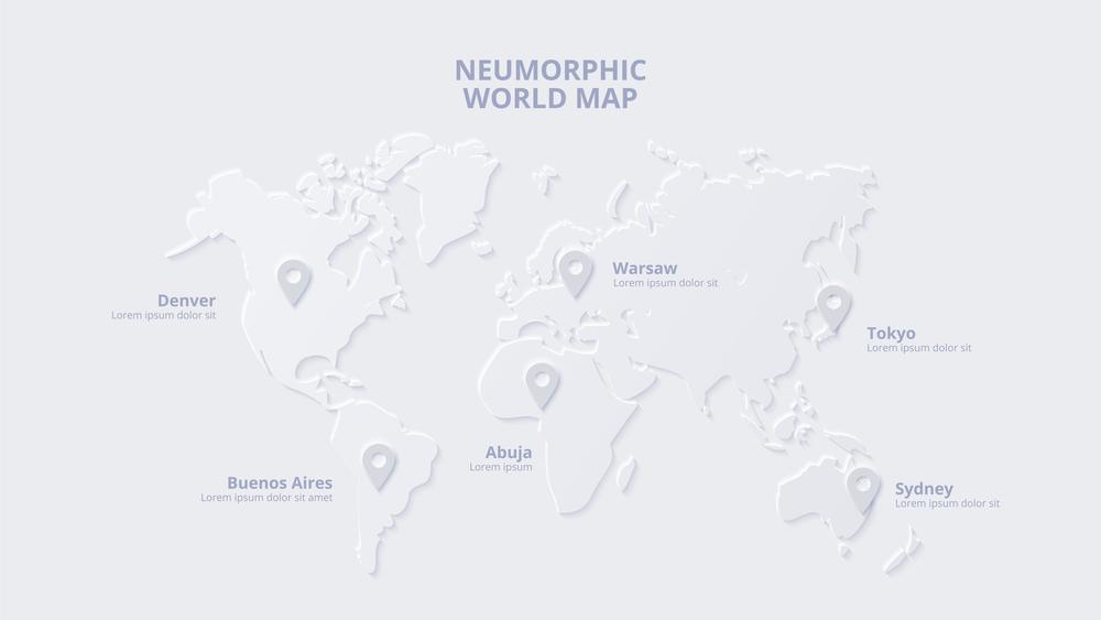 stock illustration neumorphic interface