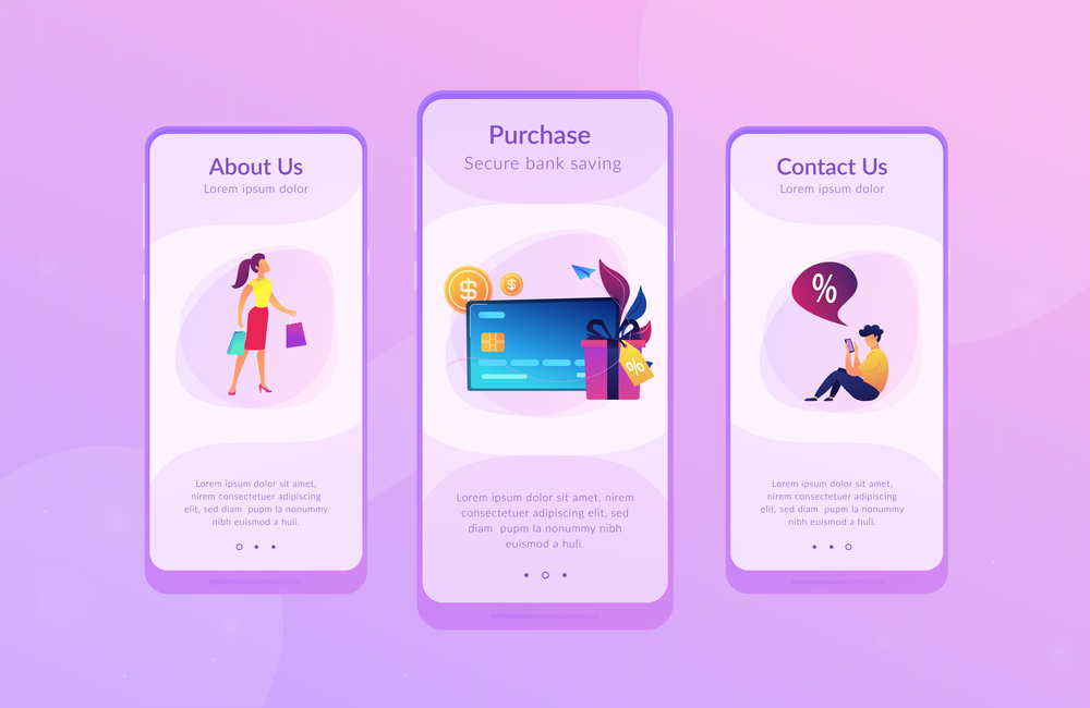 stock illustration app design