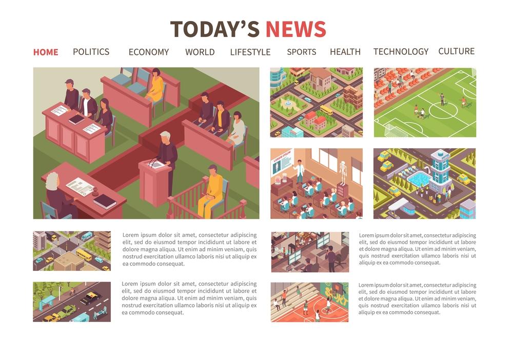 stock illustration web site design news