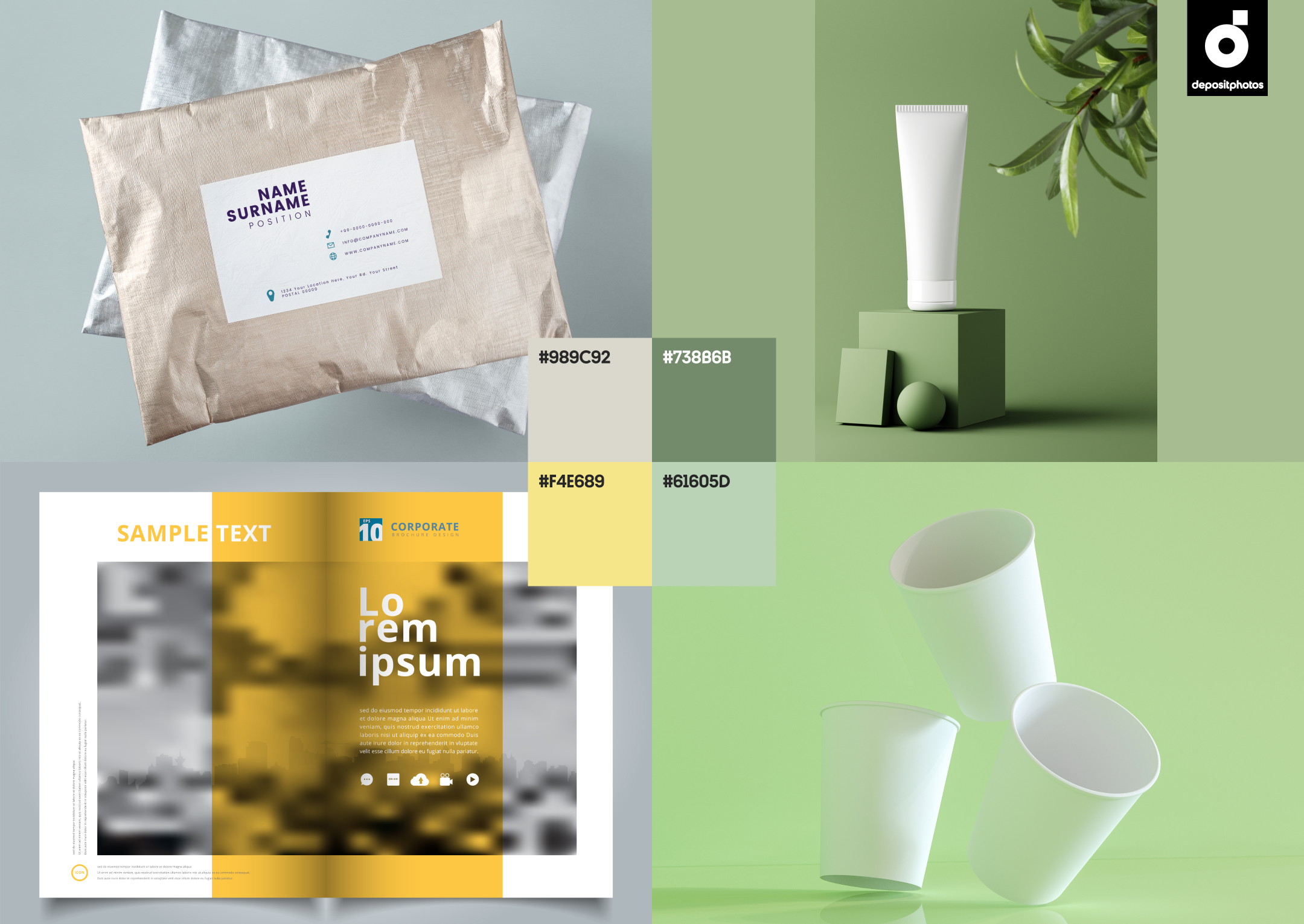 trendy mockups stock photography