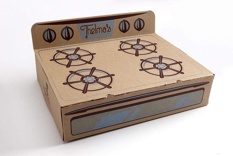 Thelma's cookies packaging