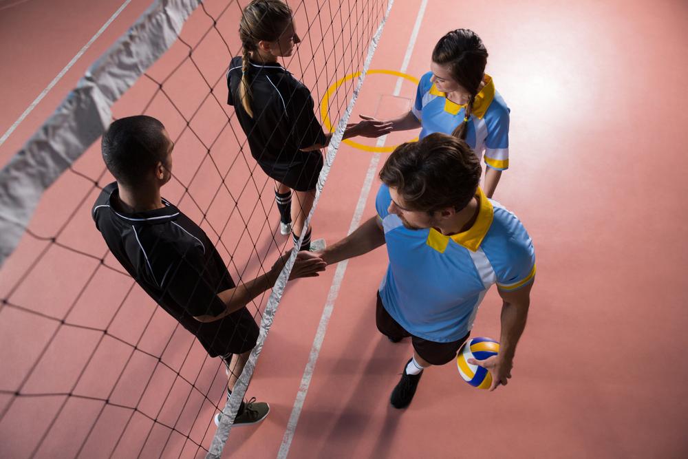 stock photo sport Volleyball team