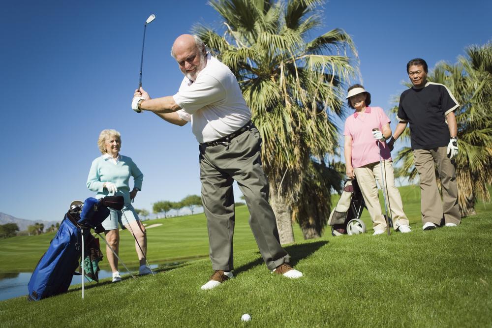 stock photo sport golf seniors