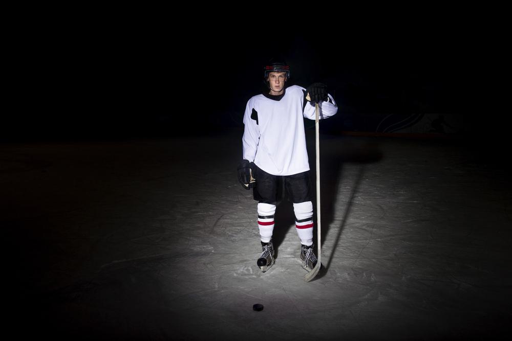 stock photo sport Hockey player