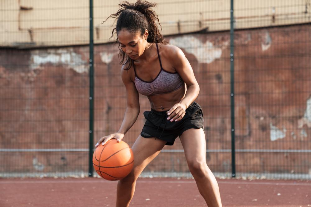 stock photo sport Basketball sportswoman