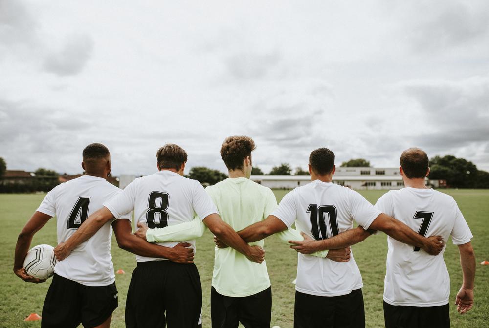 stock photo football team
