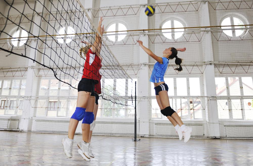 stock photo sport Volleyball female team