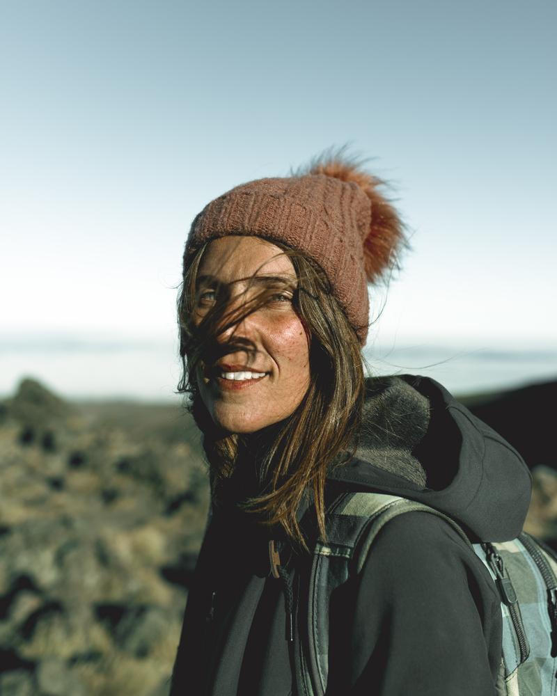 stock photo mountains girl