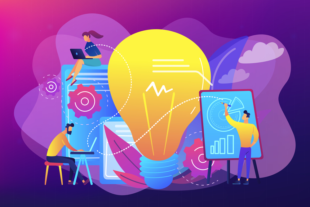 stock vector illustration sales marketing funnel