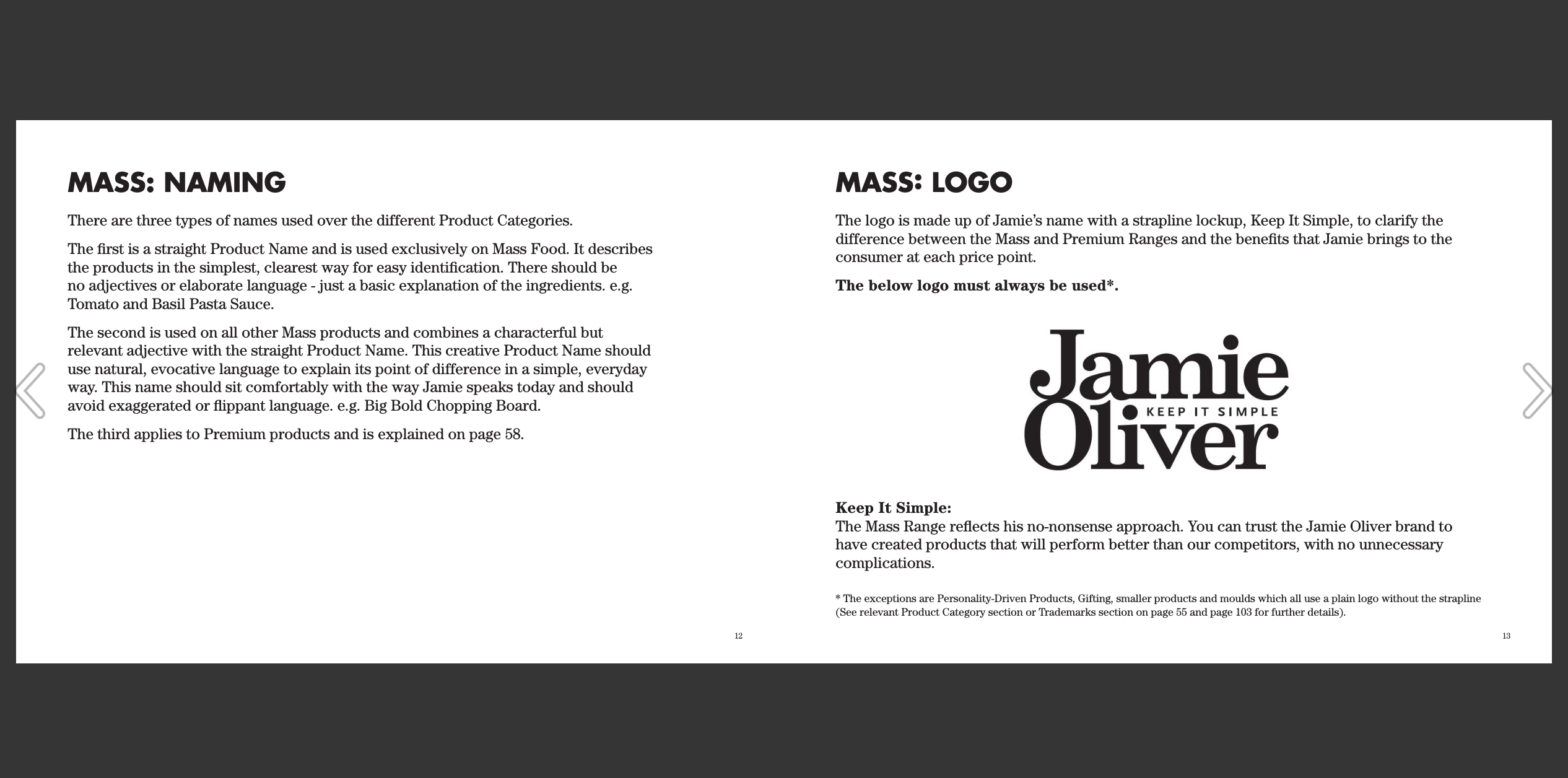 Jamie Oliver Ltd Great Brand Book Examples