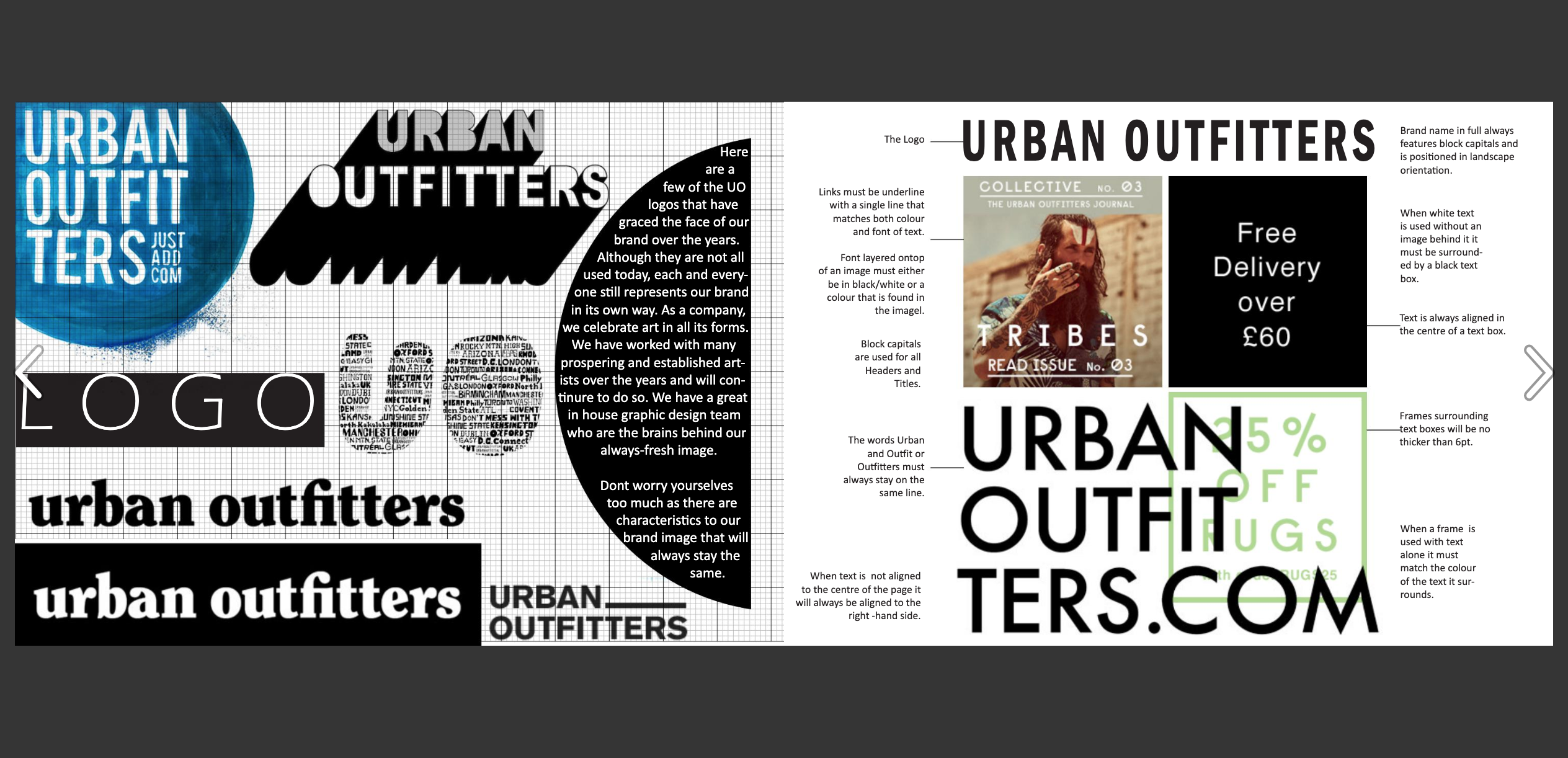 Urban Outfitters Great Brand Book Examples