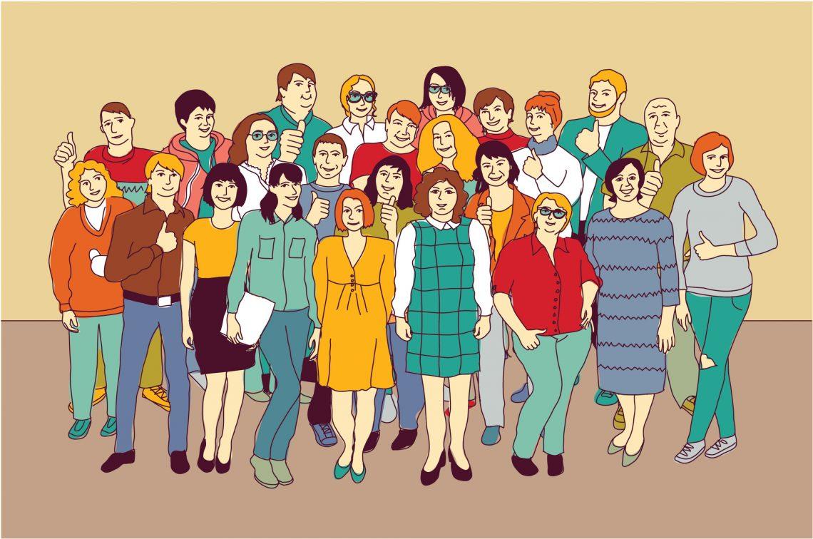 stock vector illustration brand community