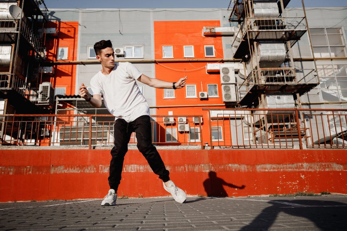 Male hiphop dancer stock photo